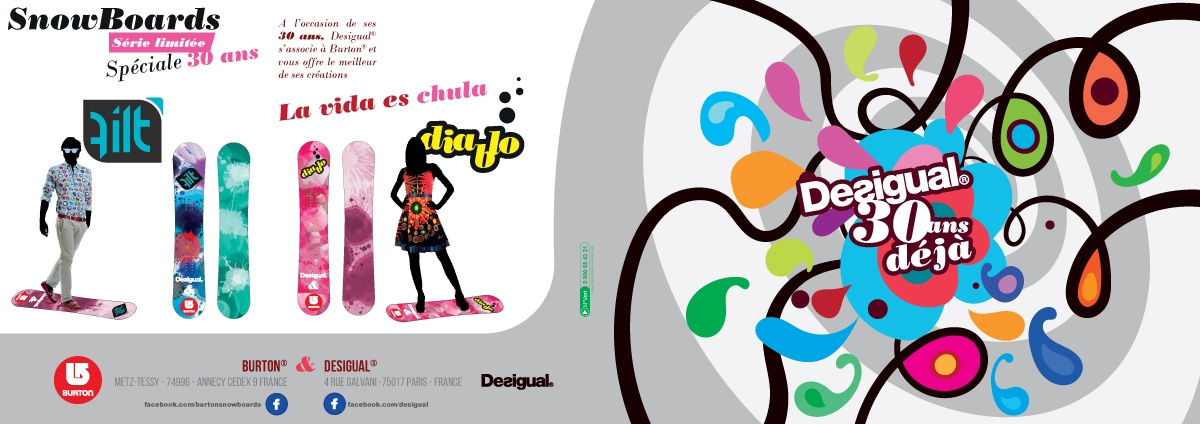 Desigual 30 ans Snowboards Collection