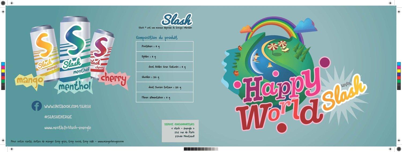 Leaflet projet Slash boisson énergisante